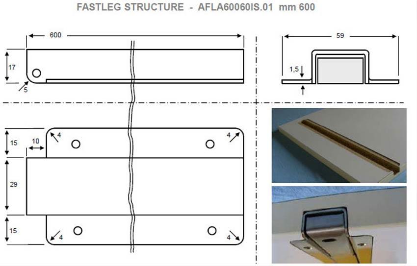 Volete costruire il vostro tavolo pieghevole a muro for Costruire un tavolo pieghevole