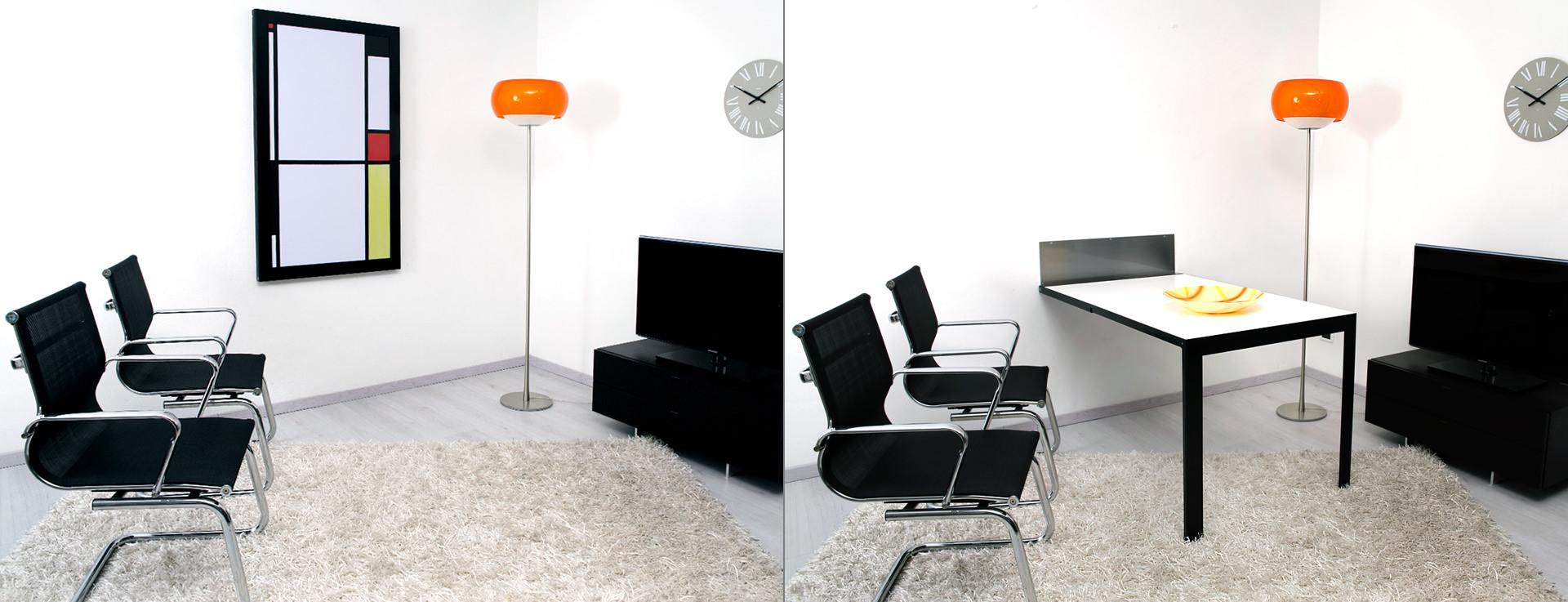I tavoli a scomparsa di ntc new table concept - Tavoli ribaltabili a parete ...