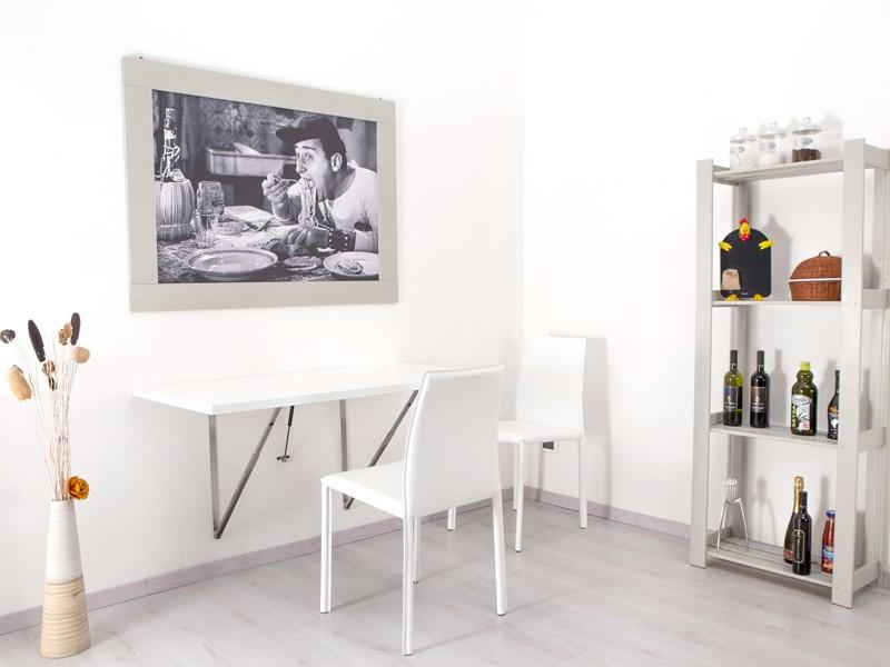 tavolo pieghevole a muro per cucine e soggiorno Telkì ...