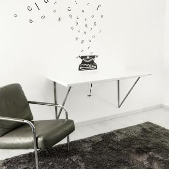 scrivania richiudibile a muro